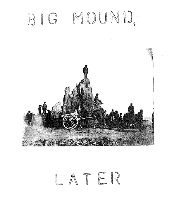 mounds, 1850s later